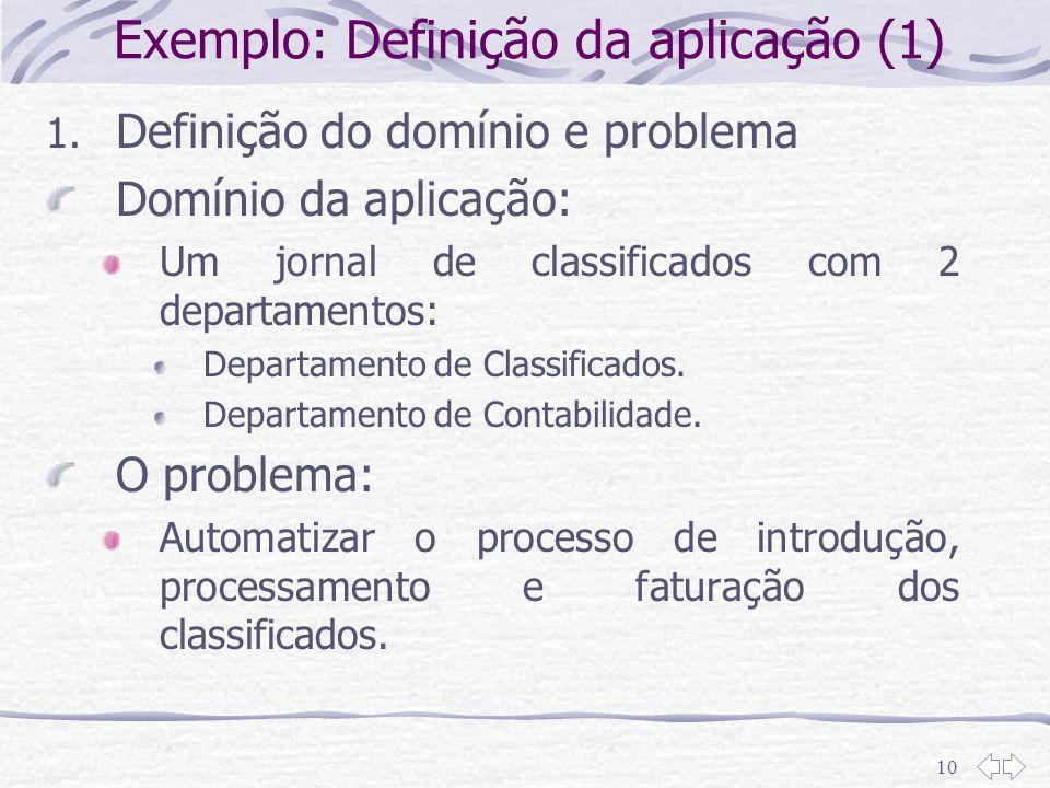Exemplo: Definição da aplicação (1)