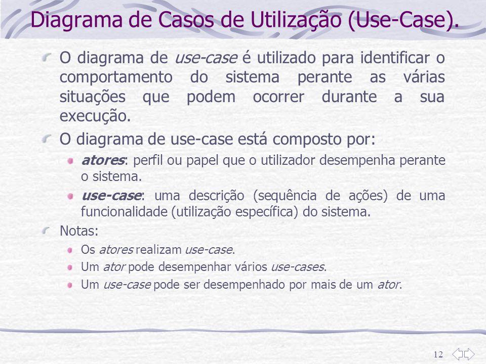 Diagrama de Casos de Utilização (Use-Case).