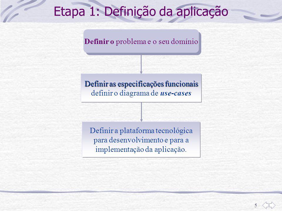 Etapa 1: Definição da aplicação