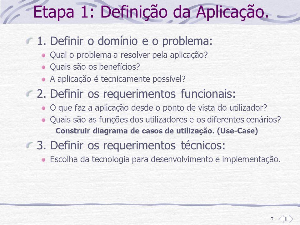 Etapa 1: Definição da Aplicação.