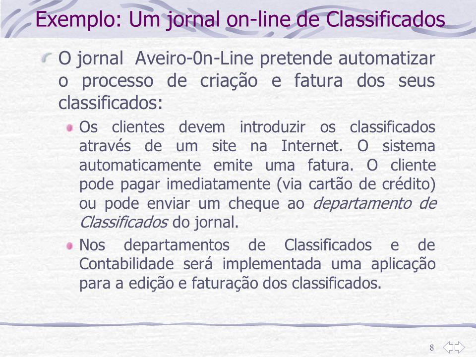 Exemplo: Um jornal on-line de Classificados