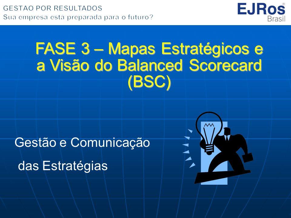 FASE 3 – Mapas Estratégicos e a Visão do Balanced Scorecard (BSC)