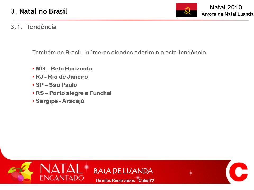 3. Natal no Brasil 3.1. Tendência