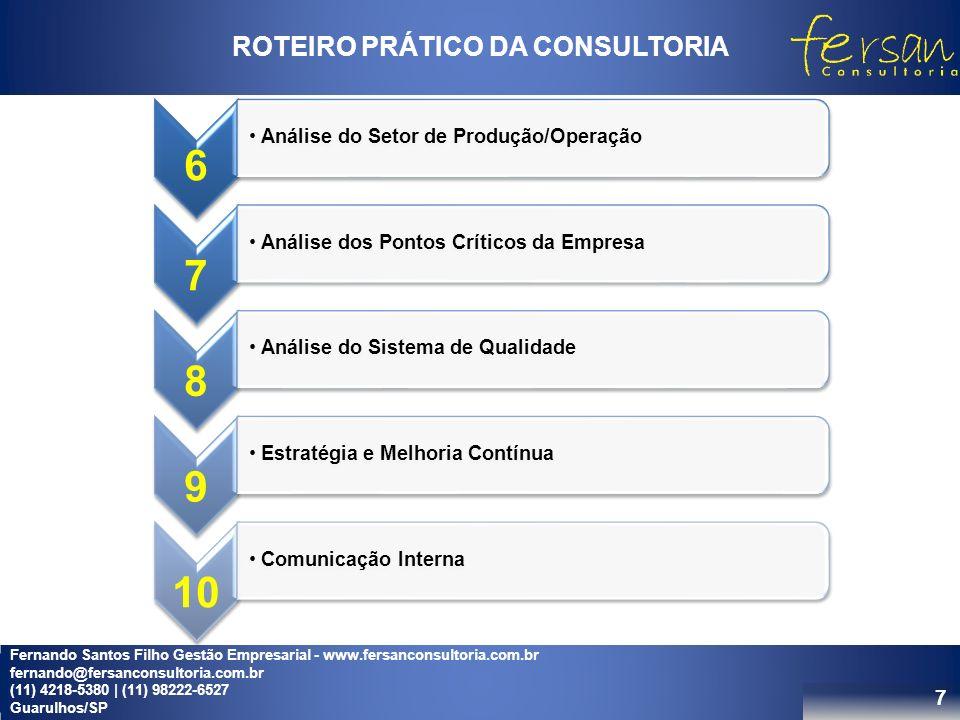 ROTEIRO PRÁTICO DA CONSULTORIA
