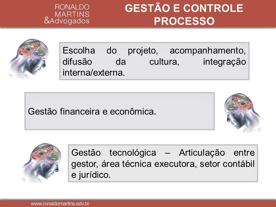 GESTÃO E CONTROLE PROCESSO