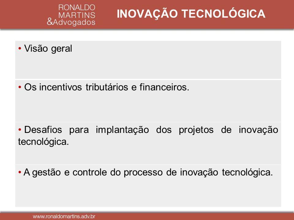 INOVAÇÃO TECNOLÓGICA Visão geral