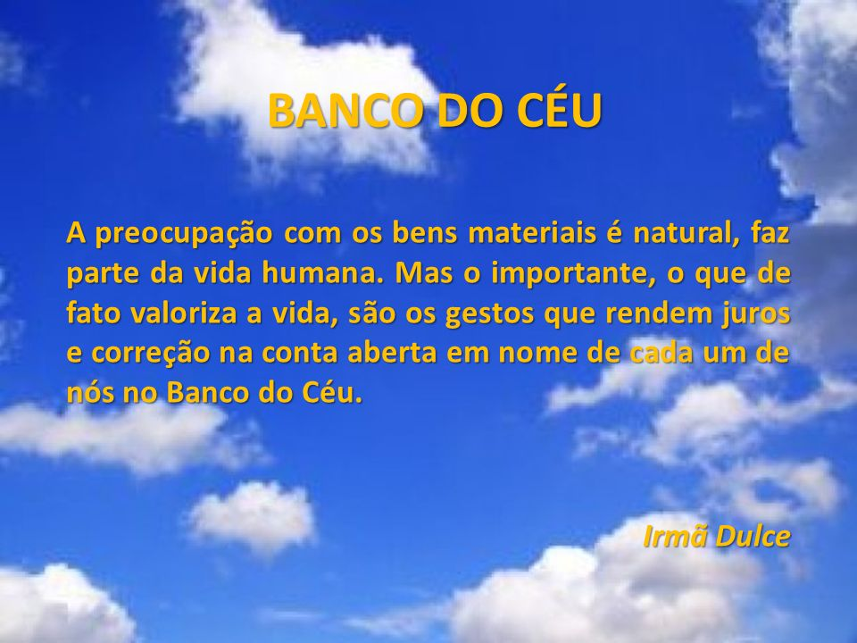 BANCO DO CÉU