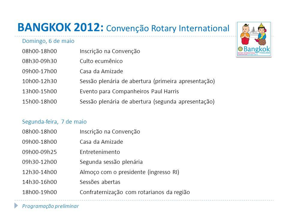 BANGKOK 2012: Convenção Rotary International