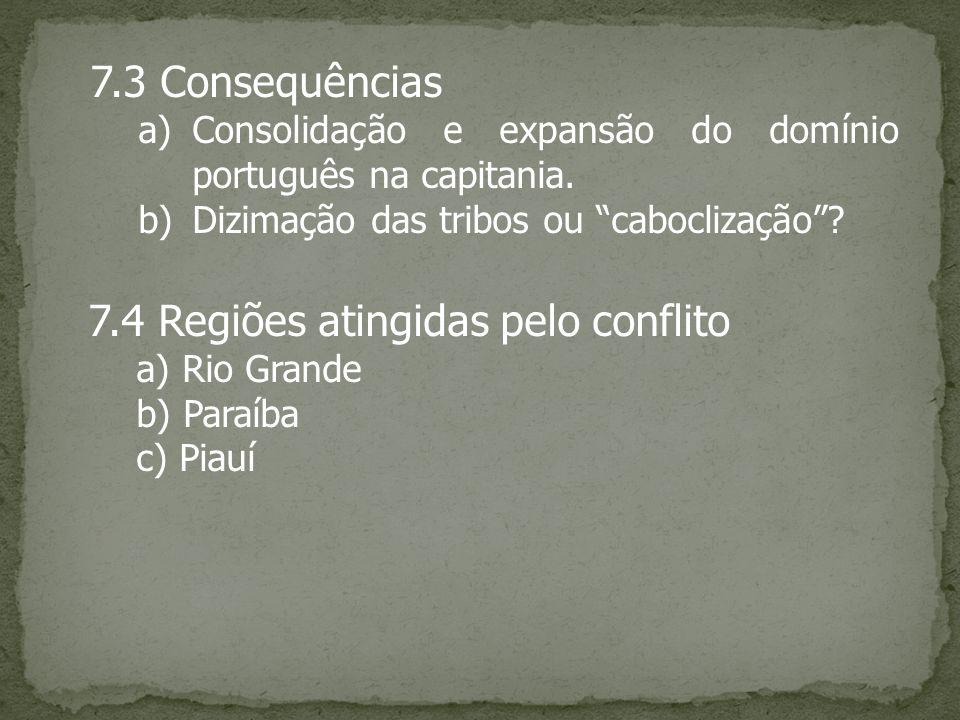7.4 Regiões atingidas pelo conflito