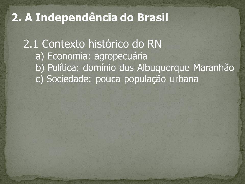 2. A Independência do Brasil 2.1 Contexto histórico do RN