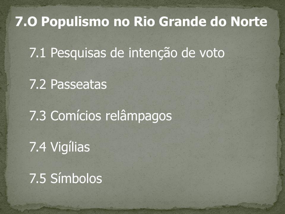7.O Populismo no Rio Grande do Norte
