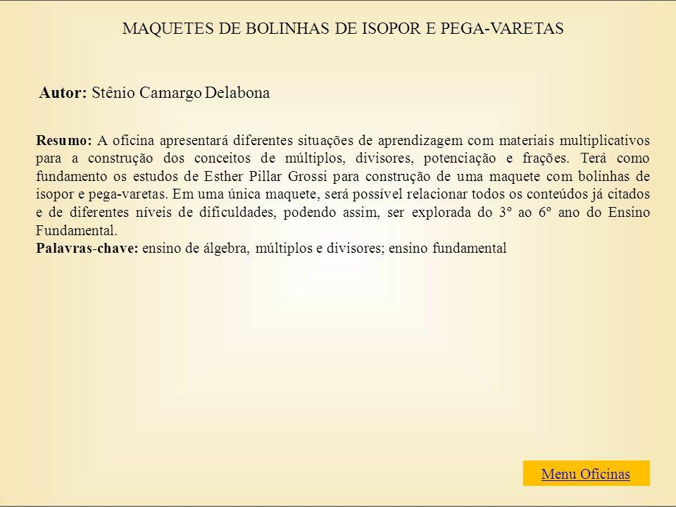 MAQUETES DE BOLINHAS DE ISOPOR E PEGA-VARETAS