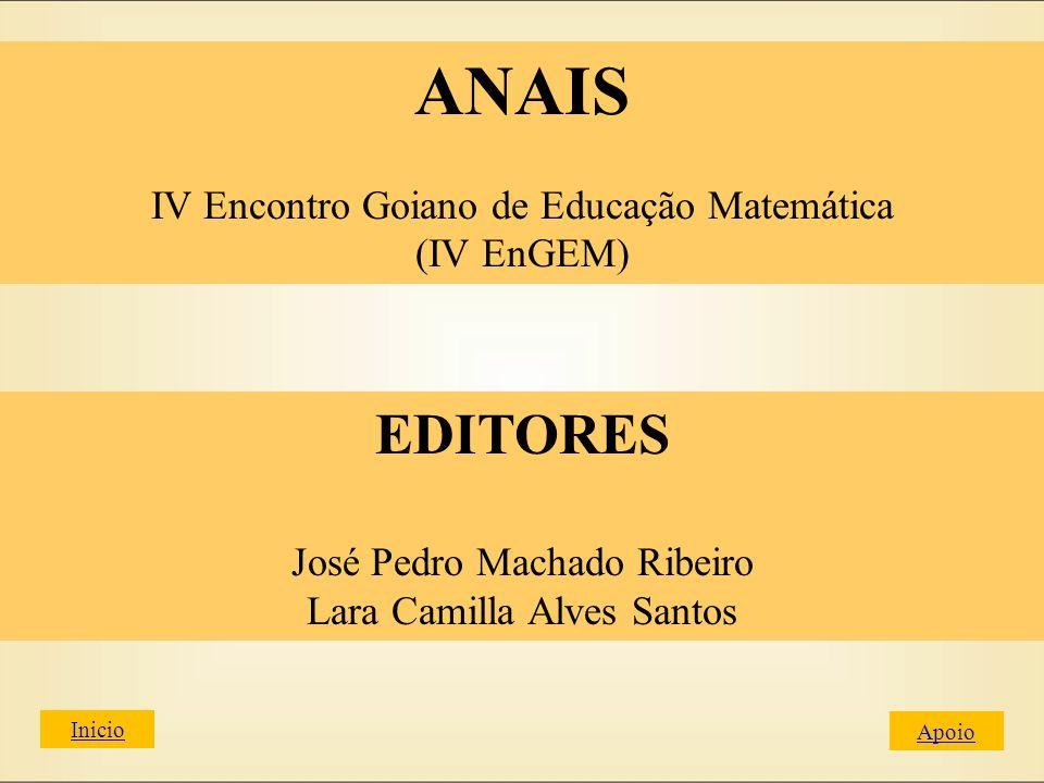 ANAIS EDITORES IV Encontro Goiano de Educação Matemática (IV EnGEM)