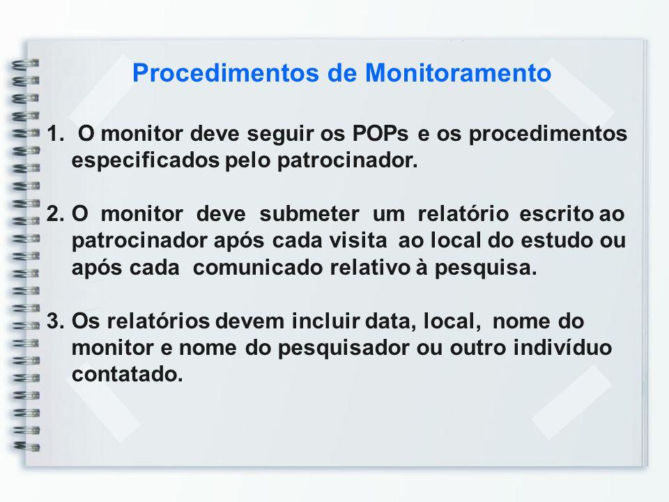 Procedimentos de Monitoramento