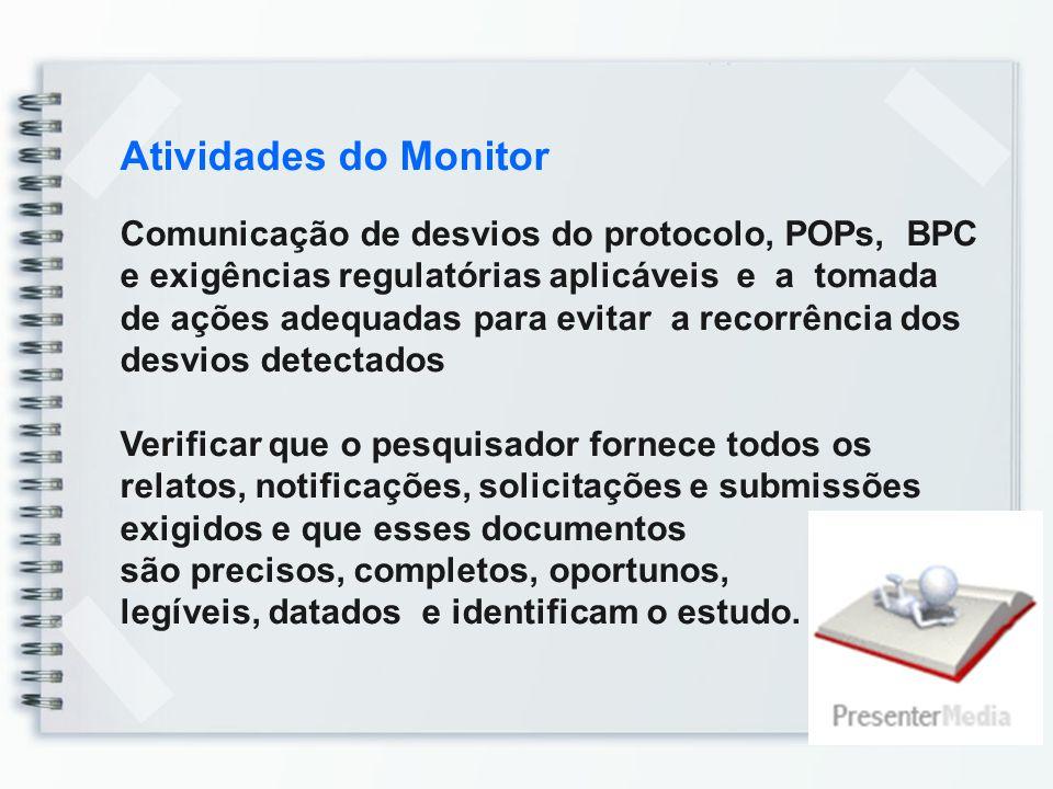 Atividades do Monitor