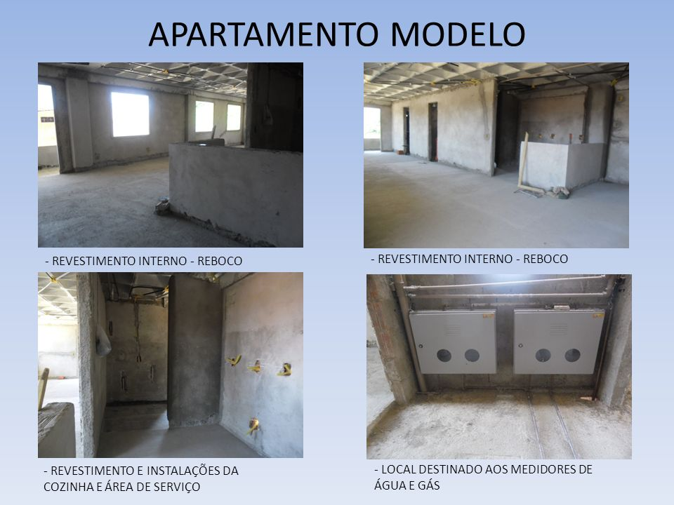 APARTAMENTO MODELO - REVESTIMENTO INTERNO - REBOCO