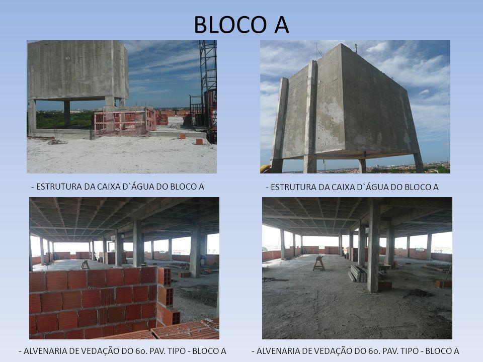 BLOCO A - ESTRUTURA DA CAIXA D`ÁGUA DO BLOCO A
