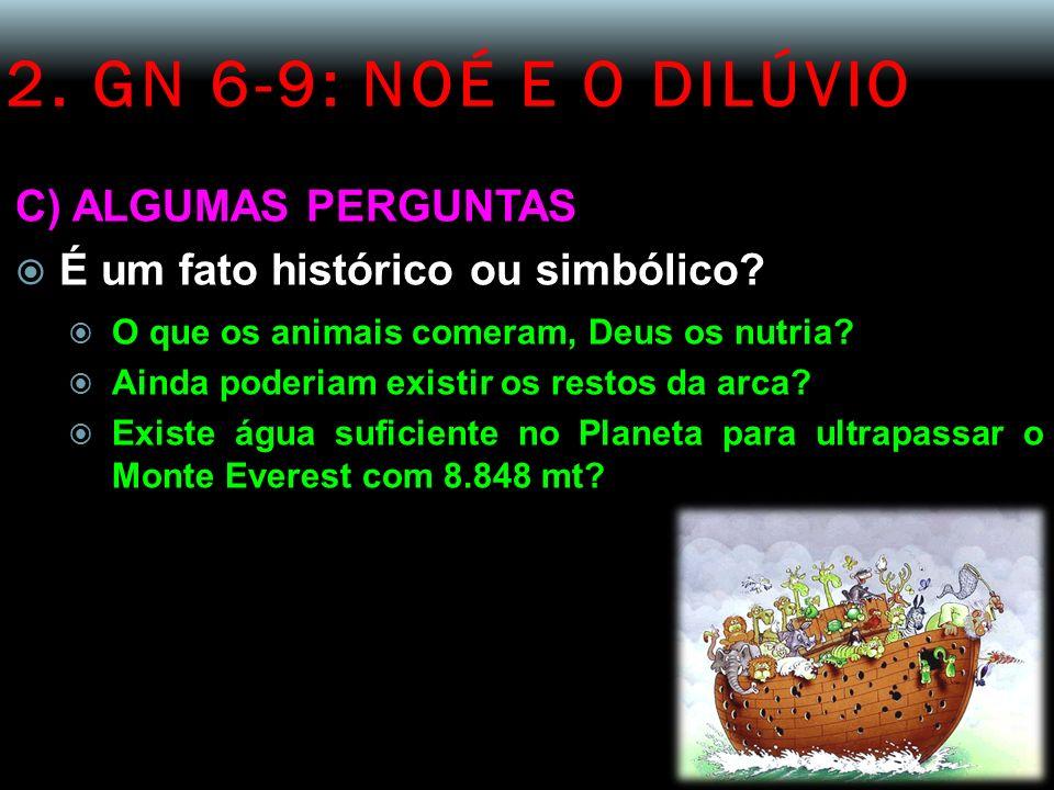 2. GN 6-9: NOÉ E O DILÚVIO C) ALGUMAS PERGUNTAS