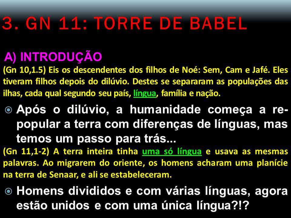 3. GN 11: TORRE DE BABEL A) INTRODUÇÃO