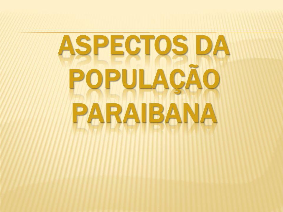 Aspectos da POPULAÇÃO paraibana
