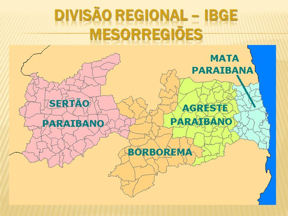 DIVISÃO REGIONAL – IBGE MESORREGIÕES