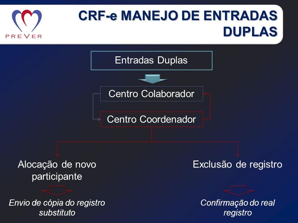 CRF-e MANEJO DE ENTRADAS DUPLAS