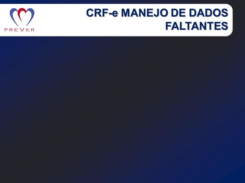 CRF-e MANEJO DE DADOS FALTANTES