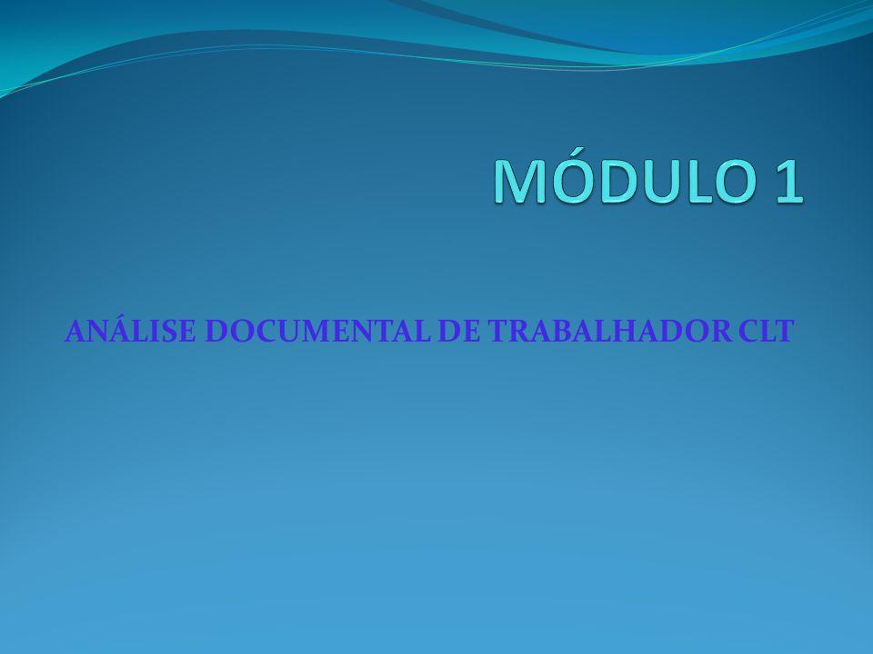 ANÁLISE DOCUMENTAL DE TRABALHADOR CLT