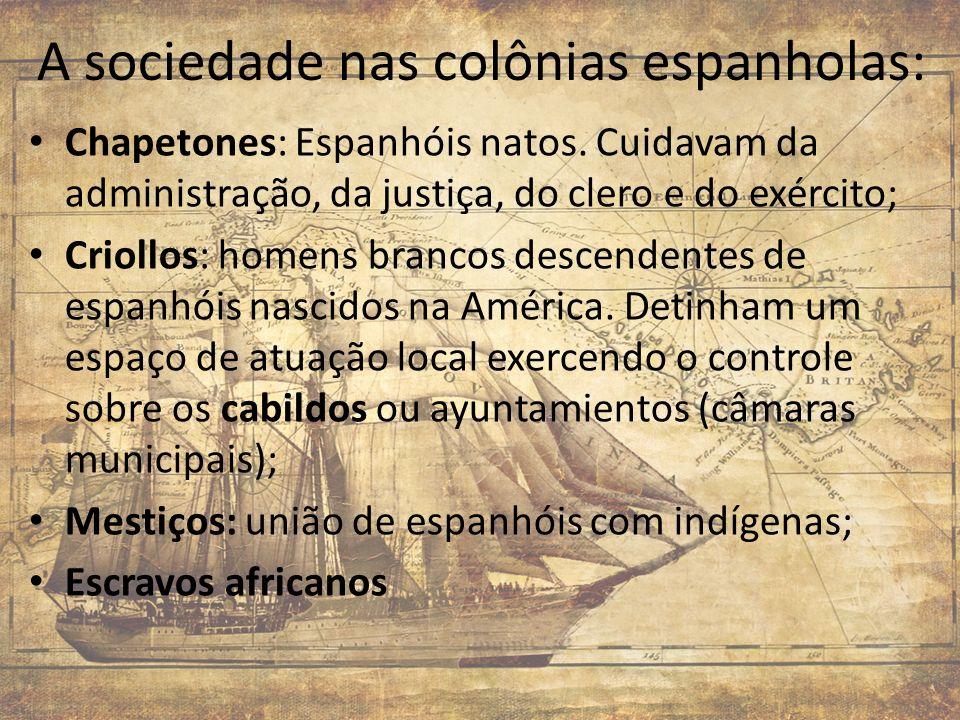 A sociedade nas colônias espanholas: