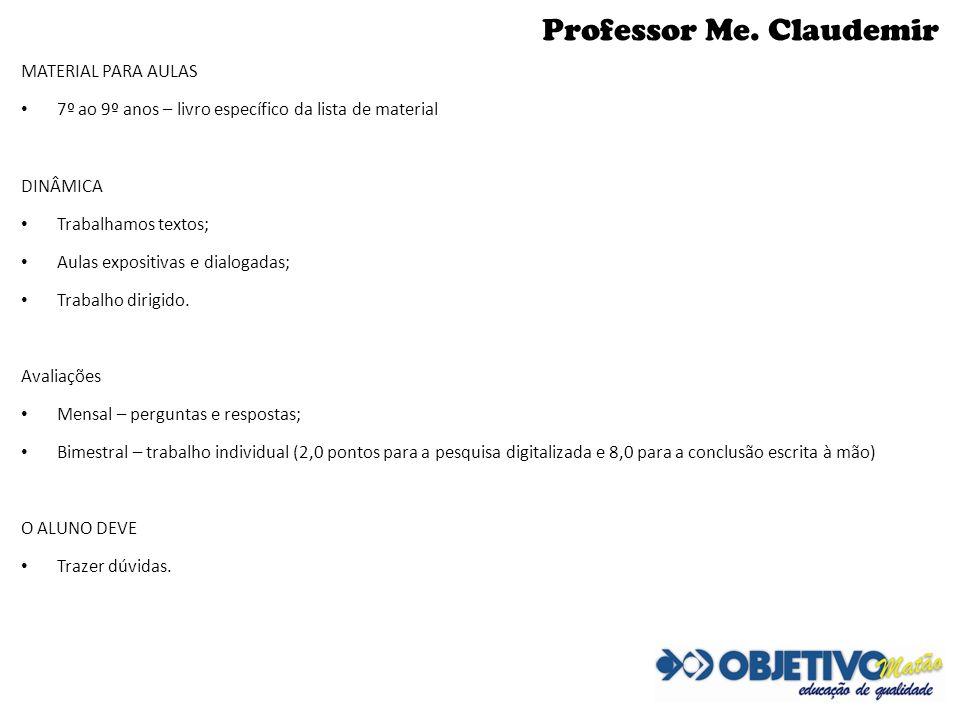 Professor Me. Claudemir