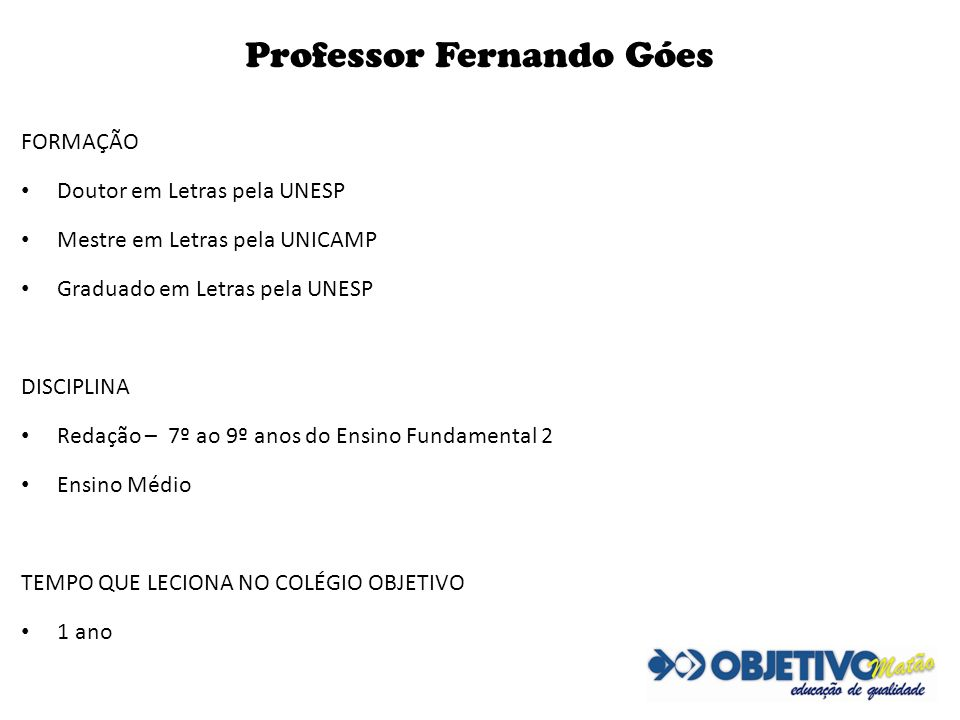 Professor Fernando Góes