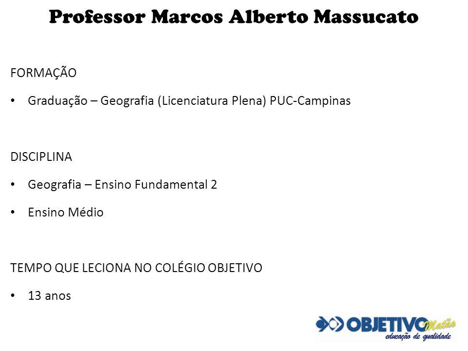 Professor Marcos Alberto Massucato