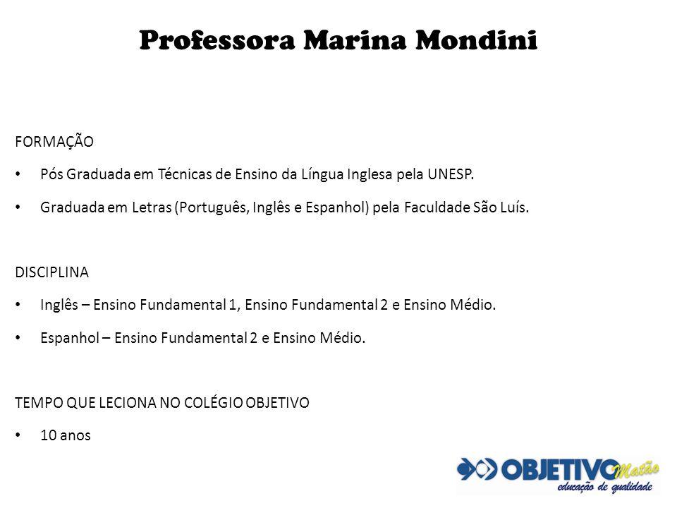Professora Marina Mondini