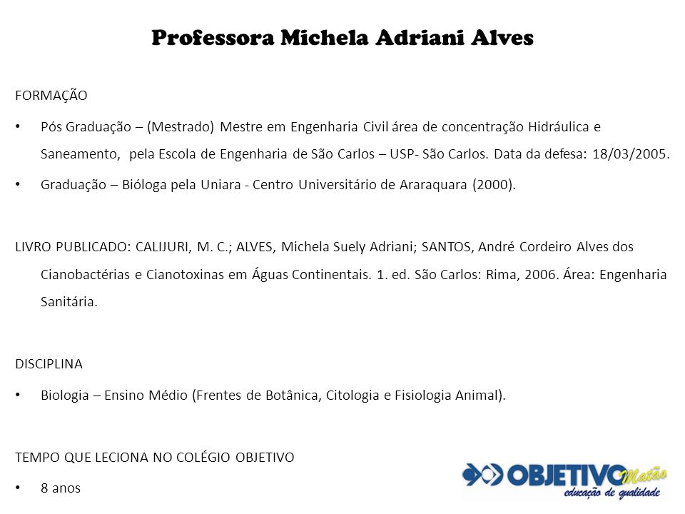 Professora Michela Adriani Alves