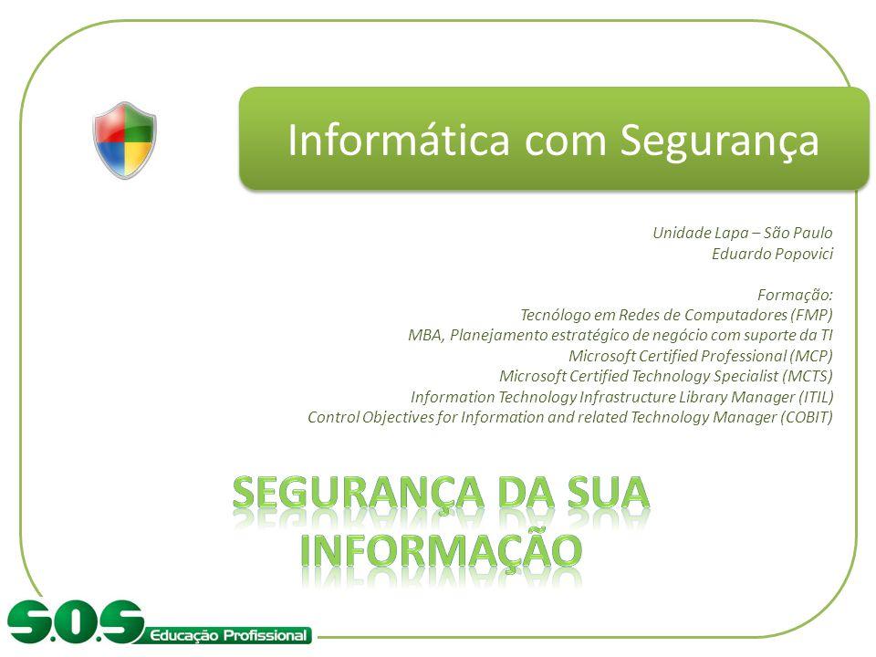 Segurança da sua Informação