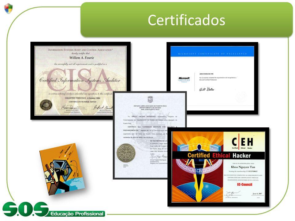 Certificados Citar as certificações e o tipo de profissional que busca esse conhecimento.
