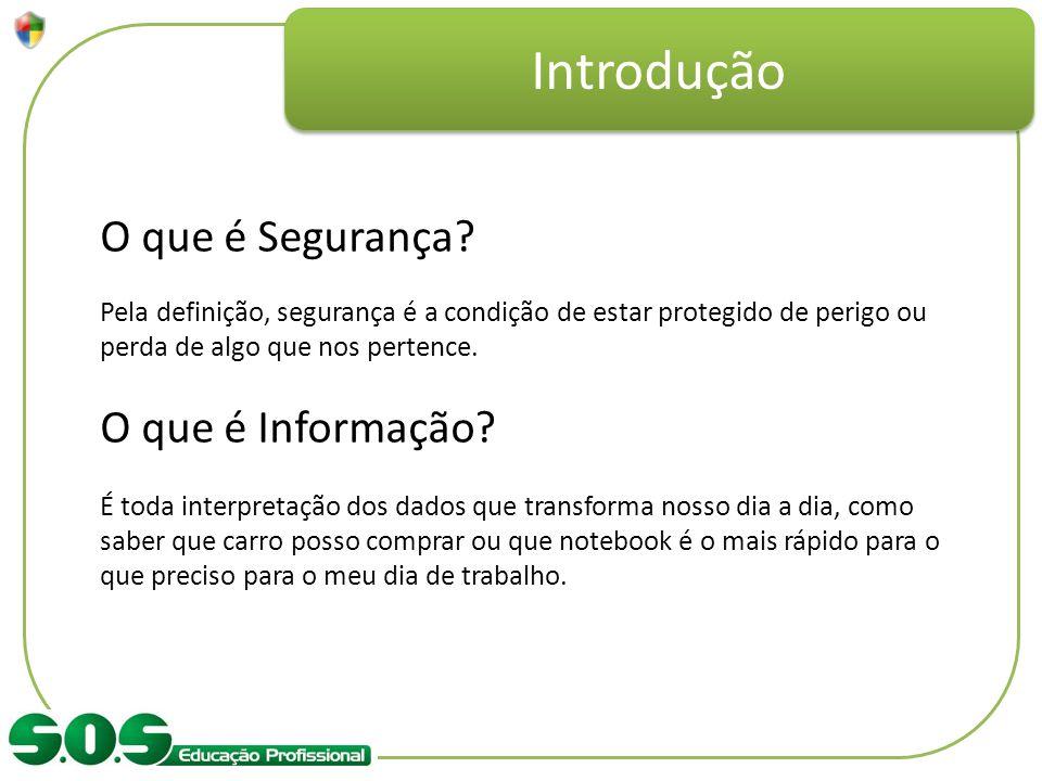 Introdução O que é Segurança O que é Informação