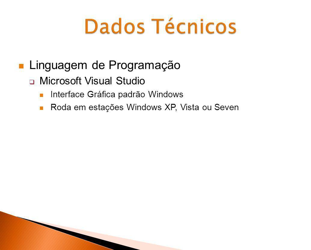 Dados Técnicos Linguagem de Programação Microsoft Visual Studio