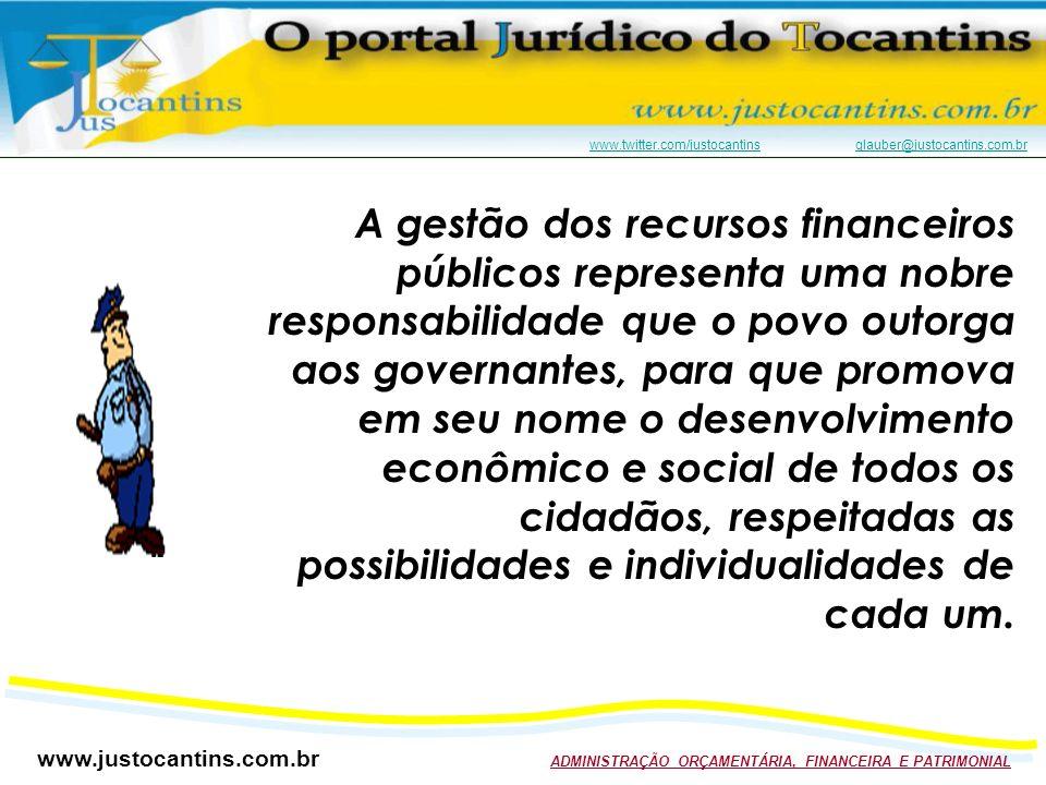 A gestão dos recursos financeiros públicos representa uma nobre responsabilidade que o povo outorga aos governantes, para que promova em seu nome o desenvolvimento econômico e social de todos os cidadãos, respeitadas as possibilidades e individualidades de cada um.