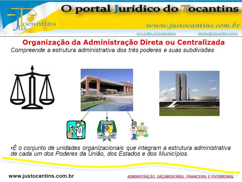 Organização da Administração Direta ou Centralizada