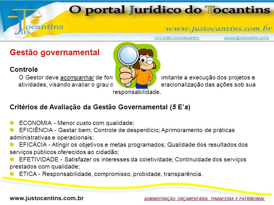 Gestão governamental Controle