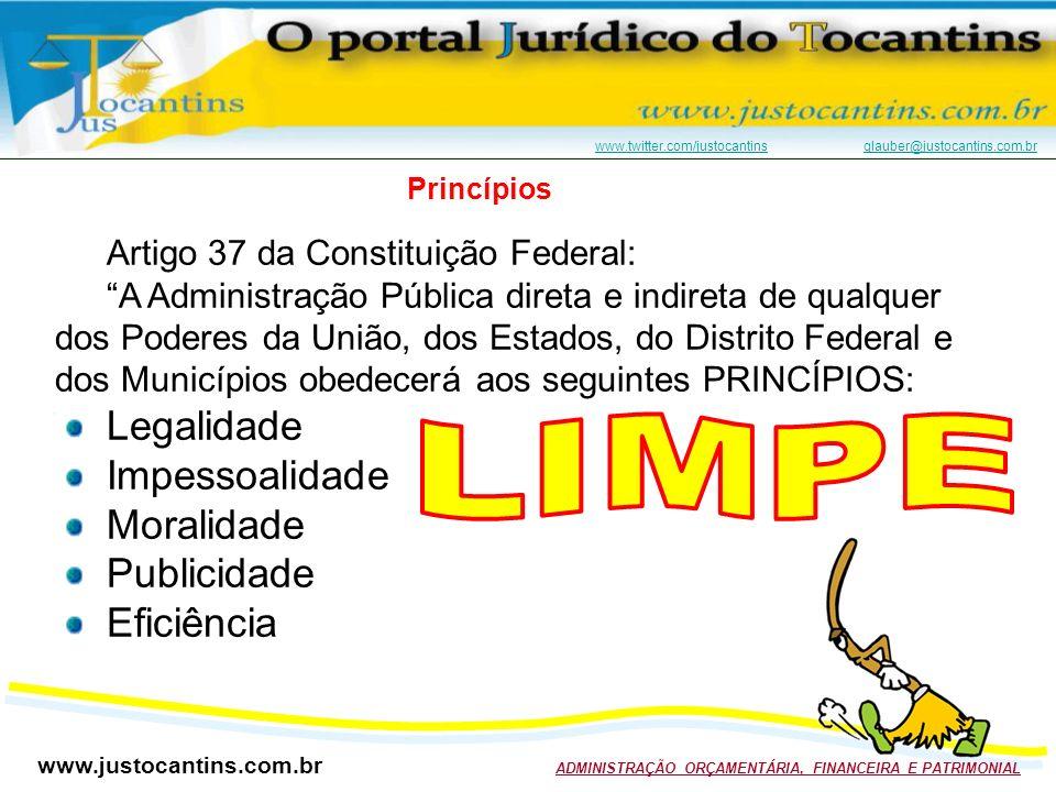 LIMPE Legalidade Impessoalidade Moralidade Publicidade Eficiência