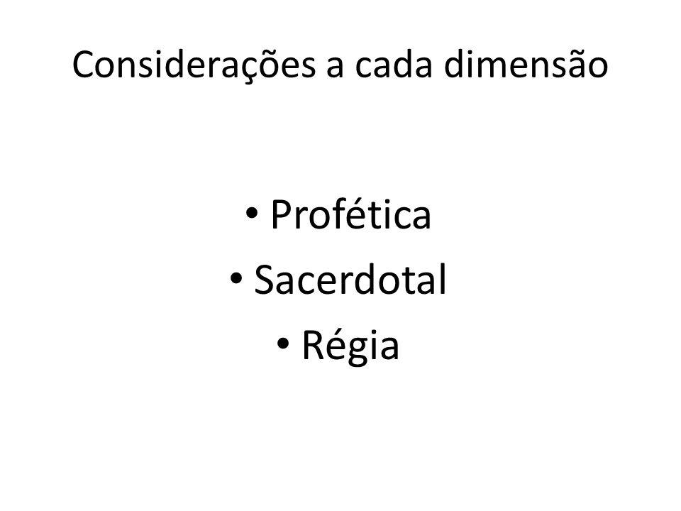 Considerações a cada dimensão