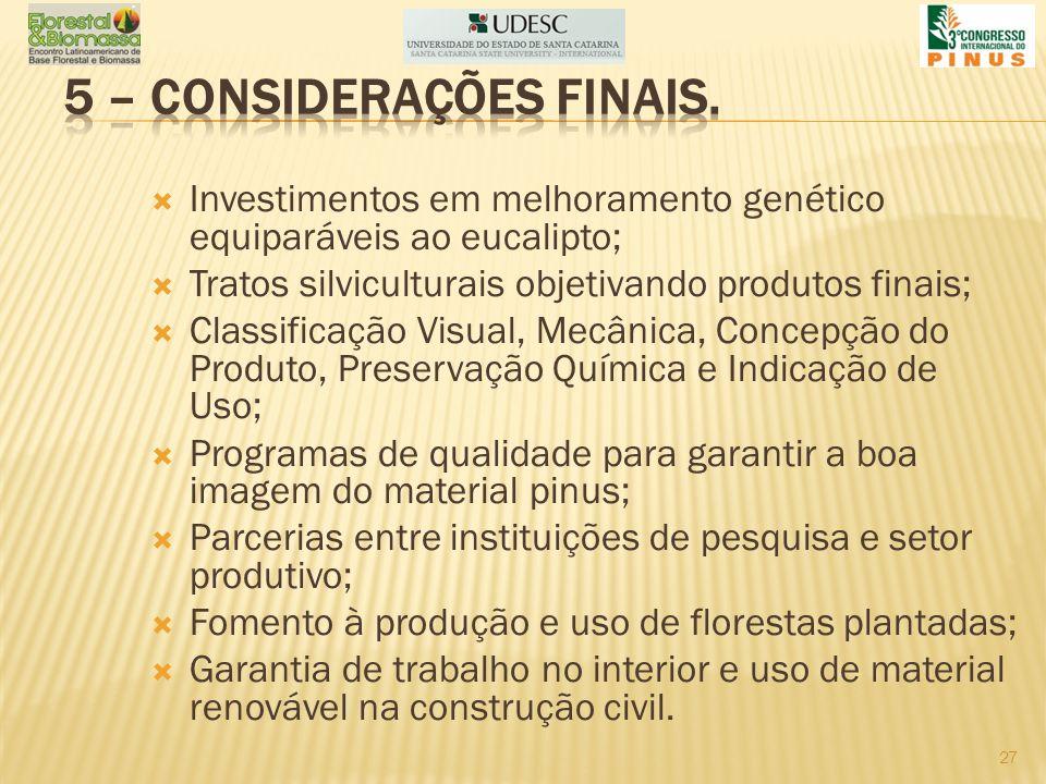 5 – CONSIDERAÇÕES FINAIS.