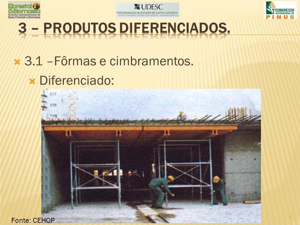 3 – produtos diferenciados.