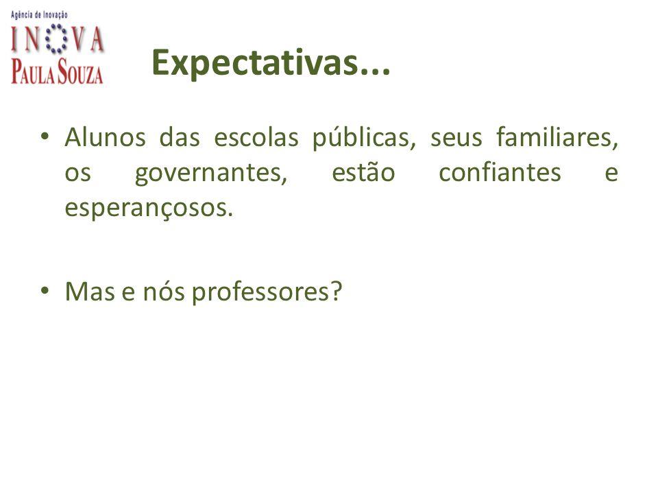 Expectativas... Alunos das escolas públicas, seus familiares, os governantes, estão confiantes e esperançosos.