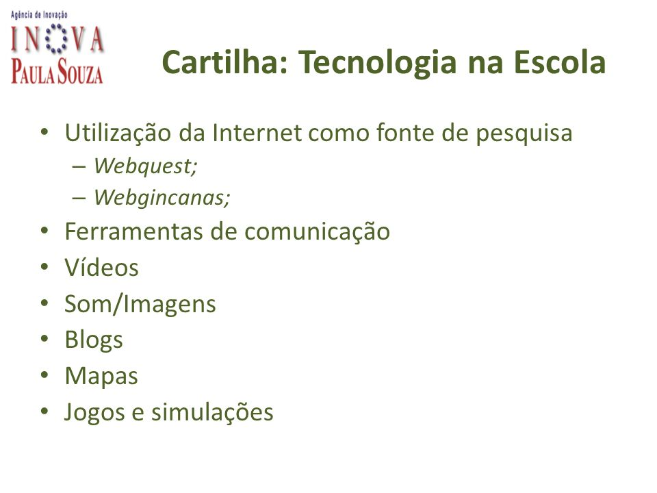 Cartilha: Tecnologia na Escola