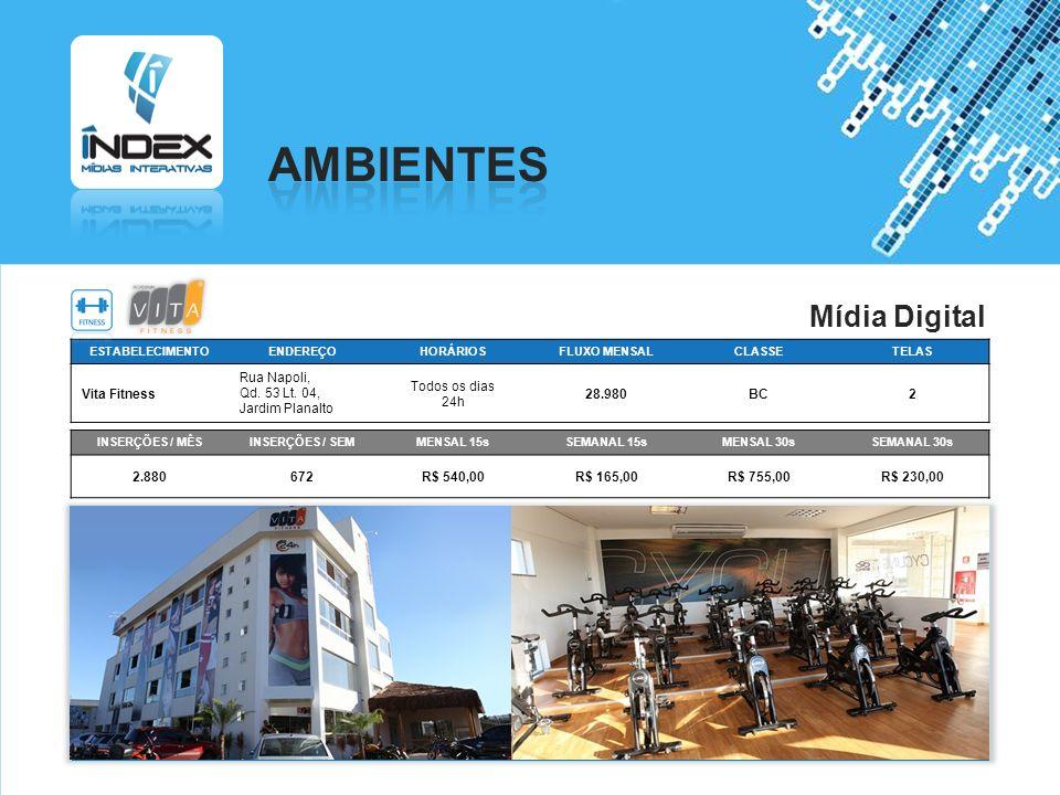 AMBIENTES Mídia Digital Vita Fitness Rua Napoli,