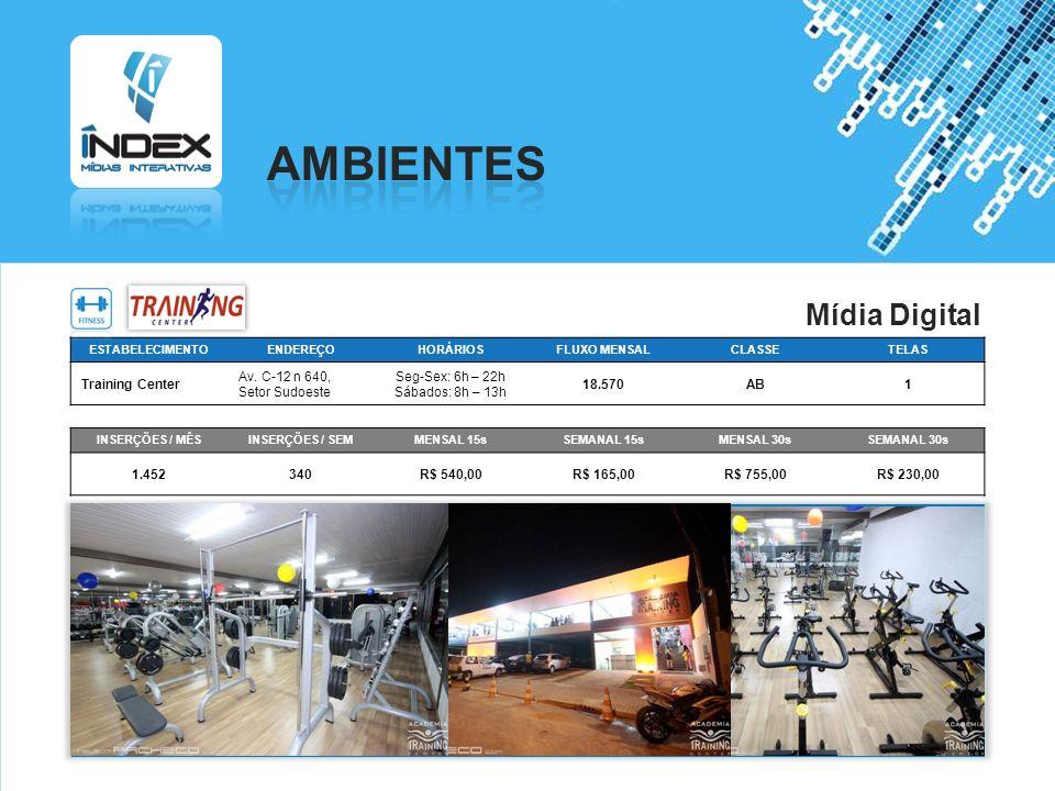 AMBIENTES Mídia Digital Training Center Av. C-12 n 640, Setor Sudoeste