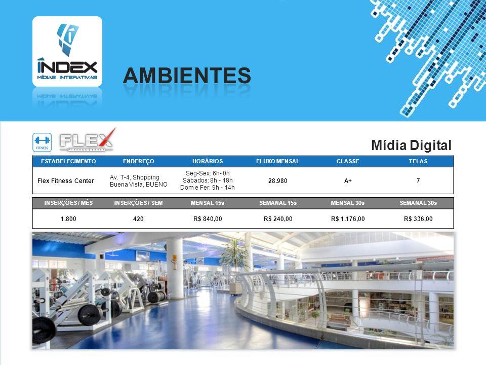 AMBIENTES Mídia Digital Flex Fitness Center